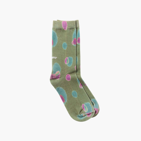 Clothing One Size Stussy Blob Everyday Socks 138700K-Khaki-One Size Stussy