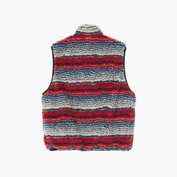 Clothing Stussy Striped Sherpa Vest Stussy