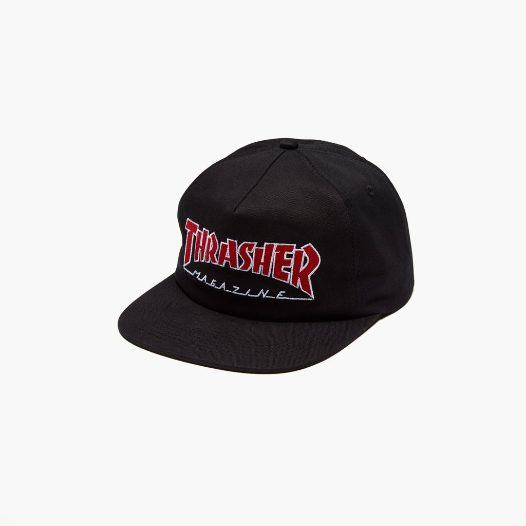 Accessories One Size THRASHER Outlined Snapback E51THROUL-Black-One Size Trasher