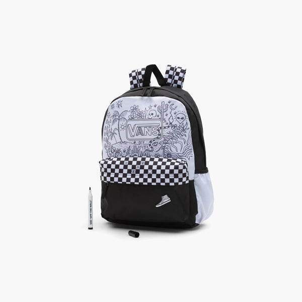 Accessories One Size Vans DIY Backpack VN0A4V3PWHT1-Black-One Size Vans