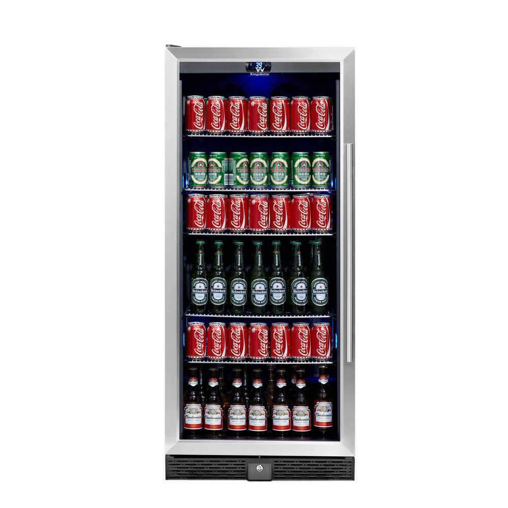 KingsBottle Upright Beverage Cooler Drink Center with Glass Door – Flaunt Your Very Own Chilled Drink Center
