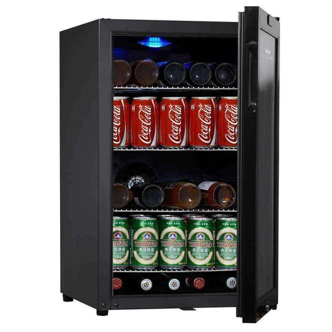 75 Can Compressor Mini Bar Fridge (Black)