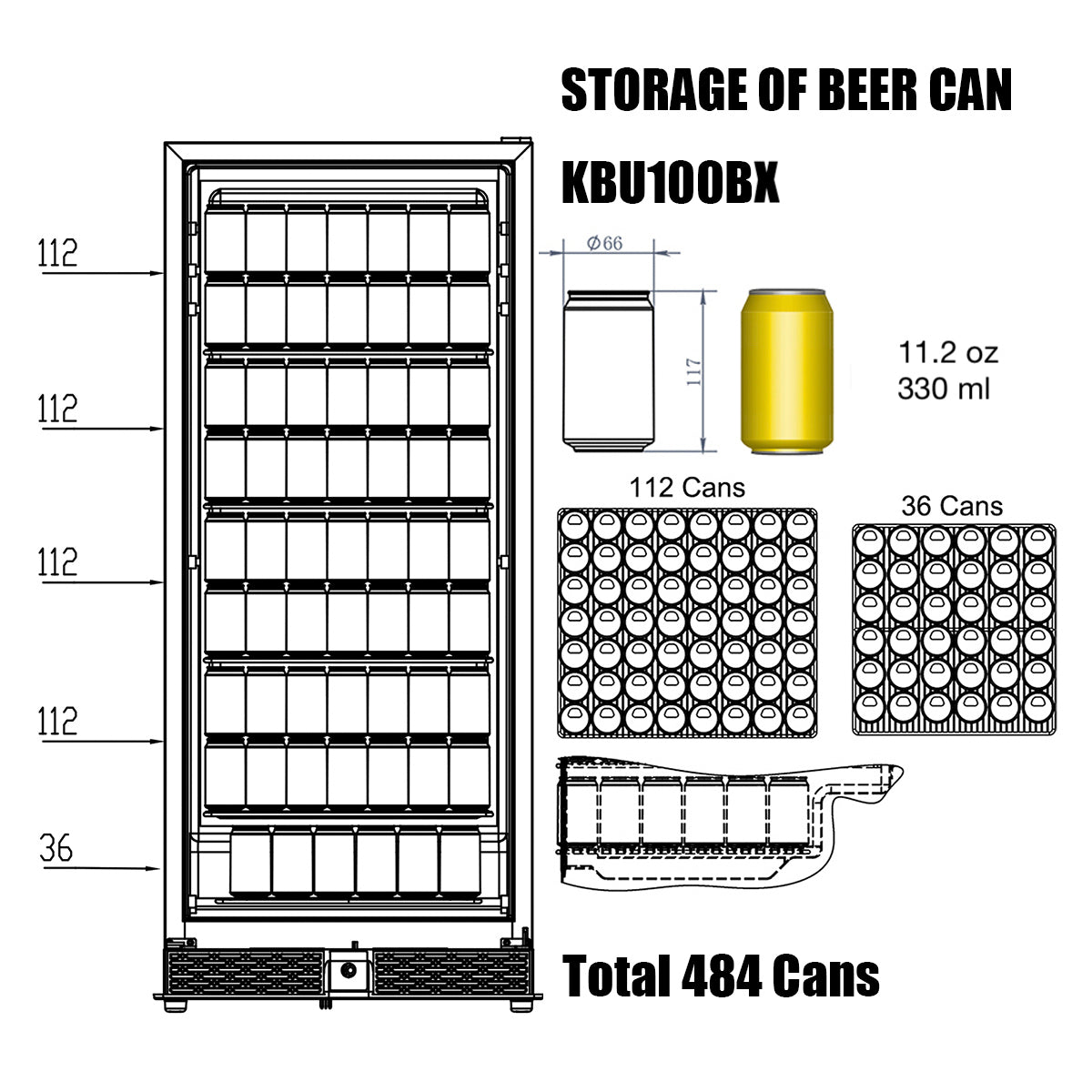 KBU100B Storage of Beer Can