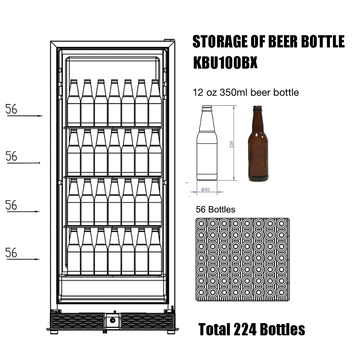 KBU100B Storage of Beer Bottle