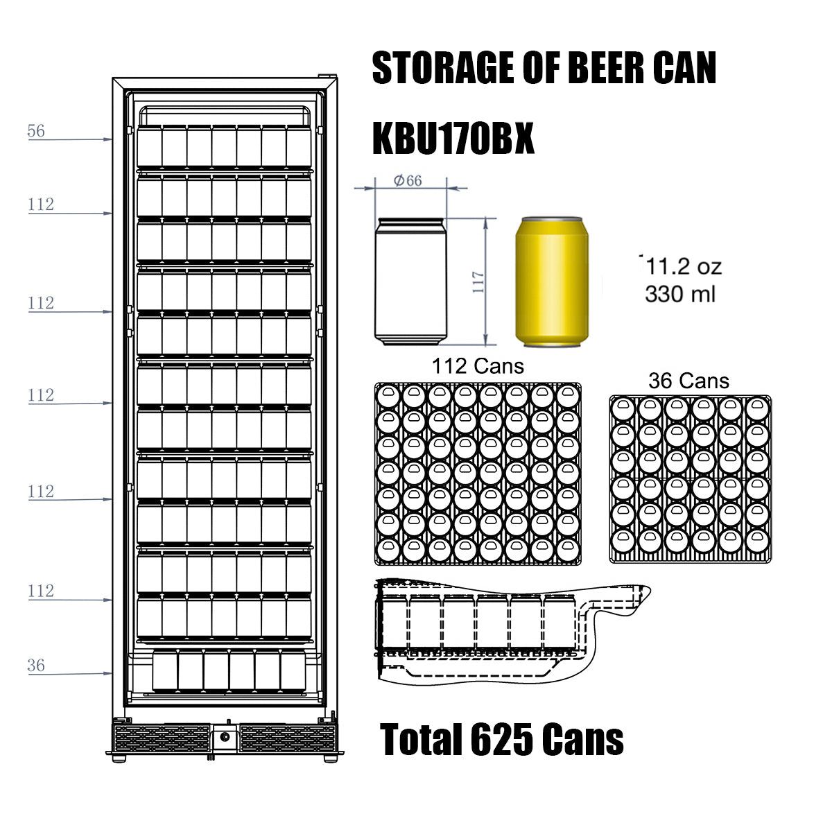 KBU170B Storage of Beer Can
