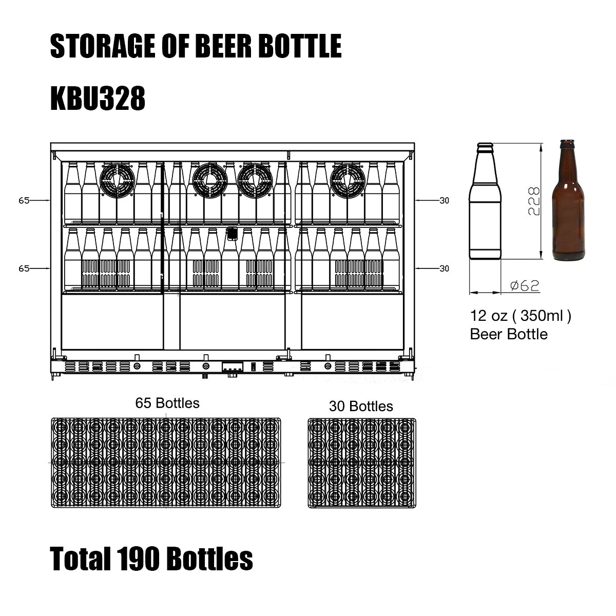 KBU328 Storage of Beer Bottle
