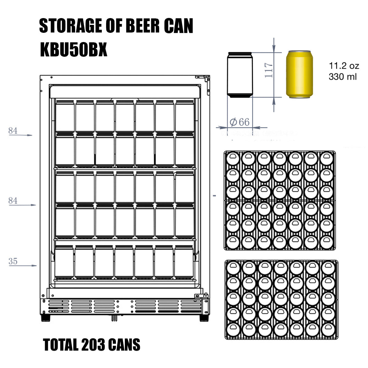 KBU50B Storage of Beer Can
