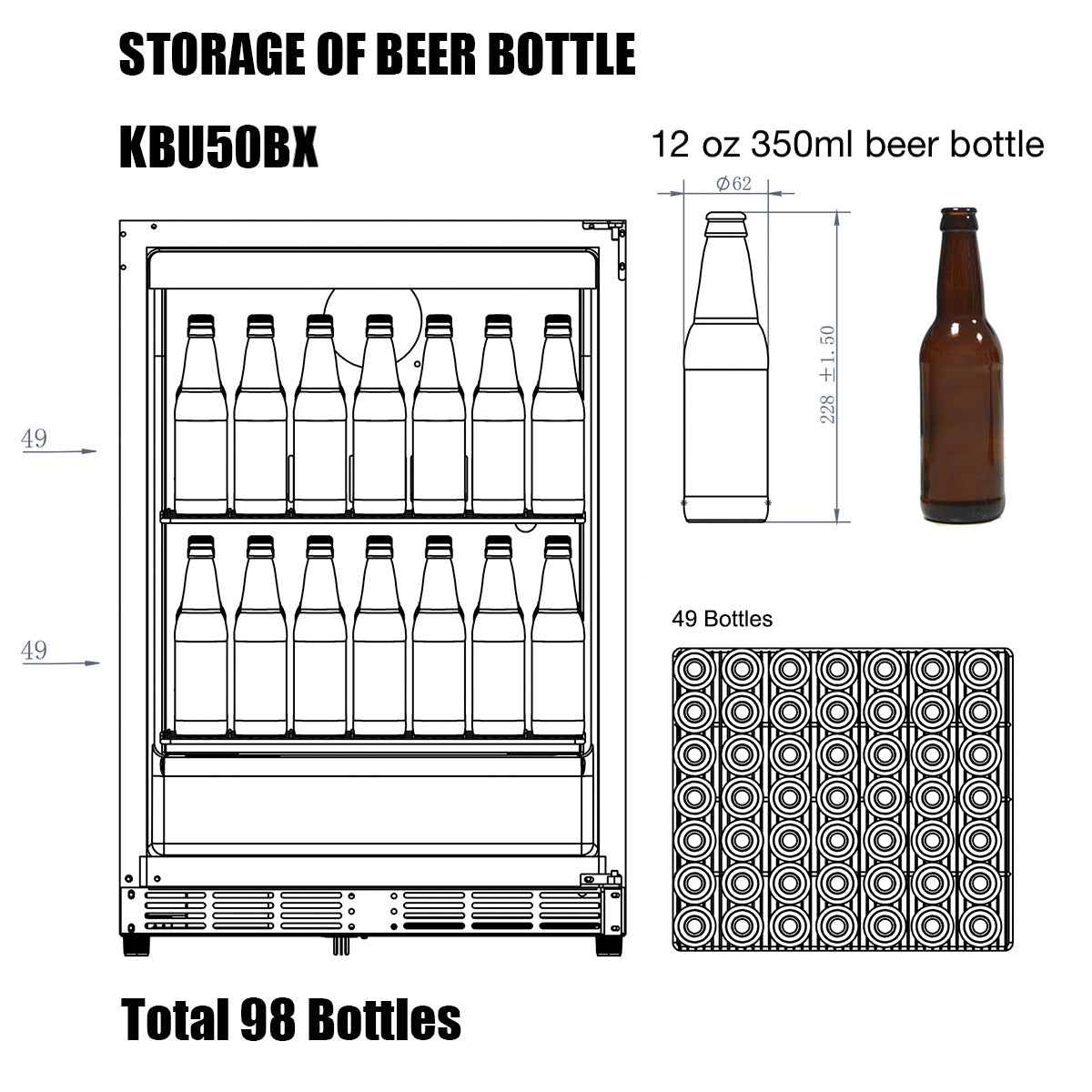 KBU50B Storage of Beer Bottle