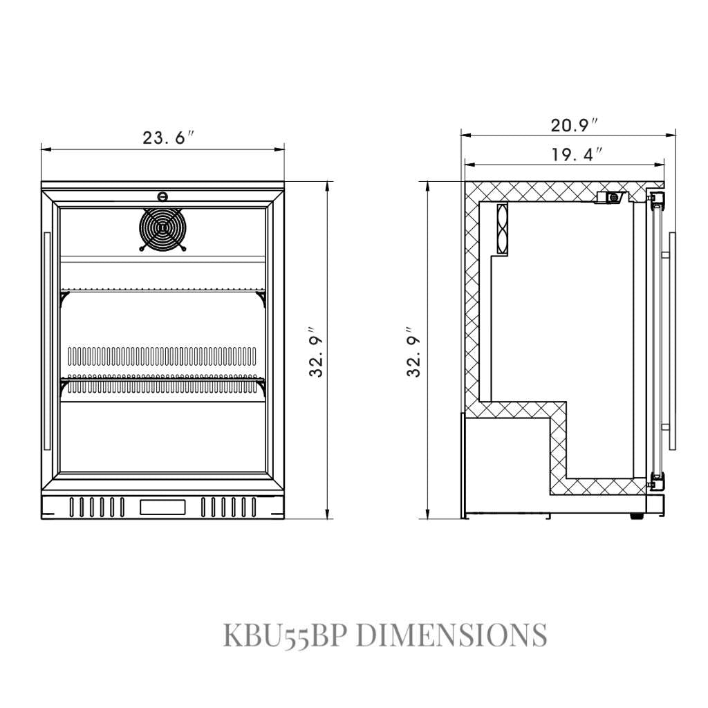 KBU55BP Dimensions