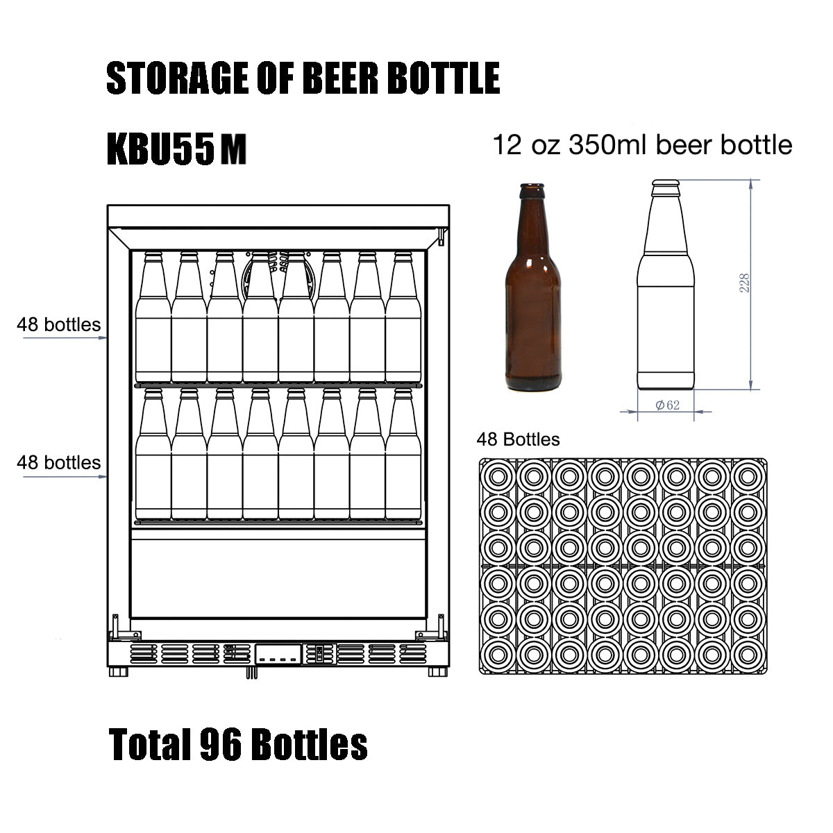 KBU55 Storage of Beer Bottle