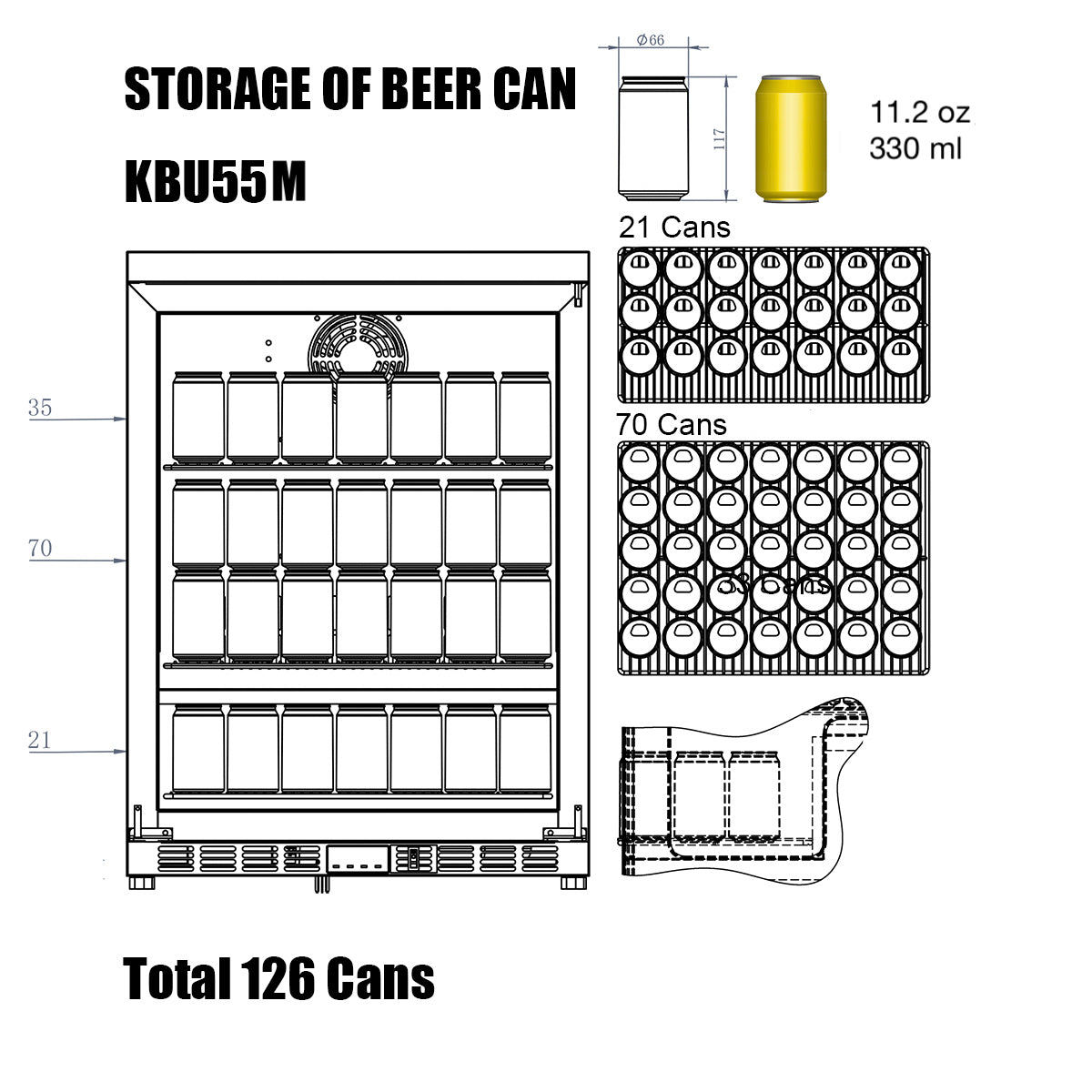 KBU50M Storage of Beer Can
