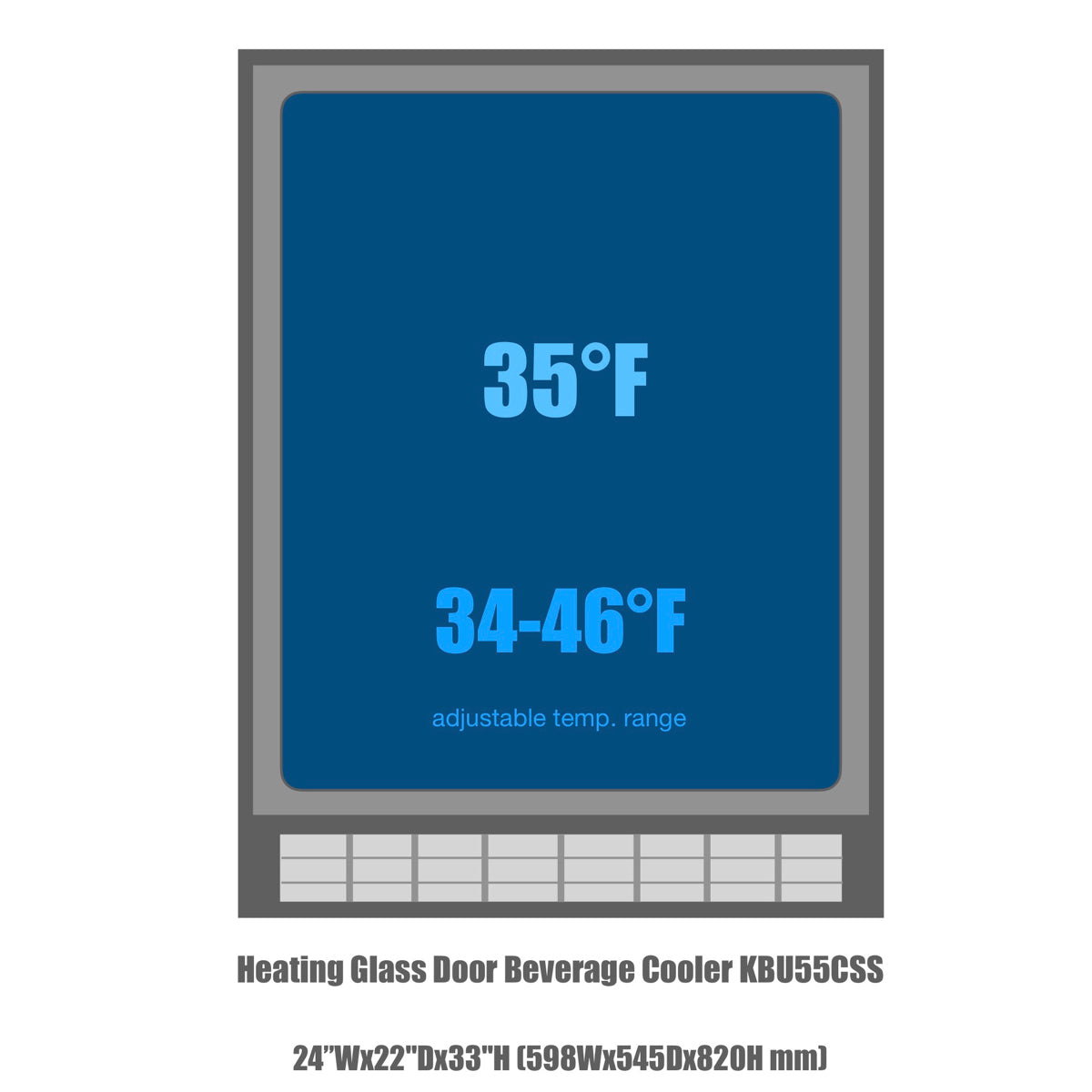 KBU55C Temperature range