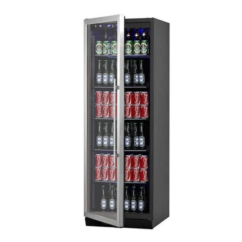 "72"" Large Beverage Refrigerator With Clear Glass Door"