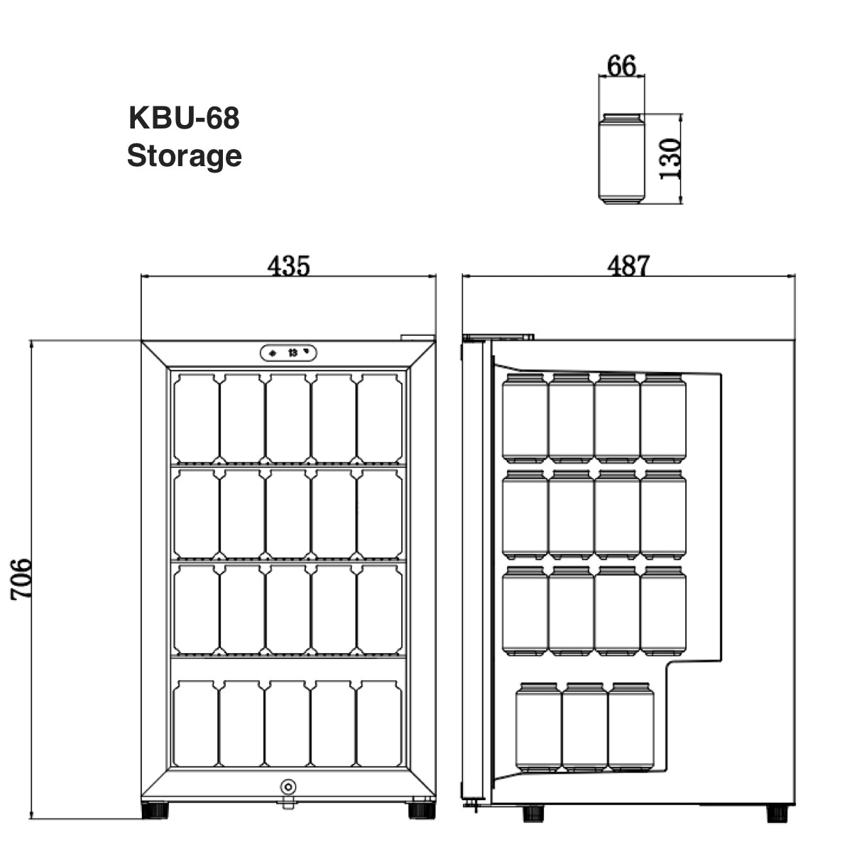 KBU68 Storage of Beer Can