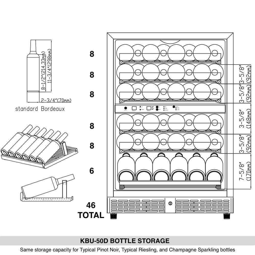 wine Bottle storage | KBU50D