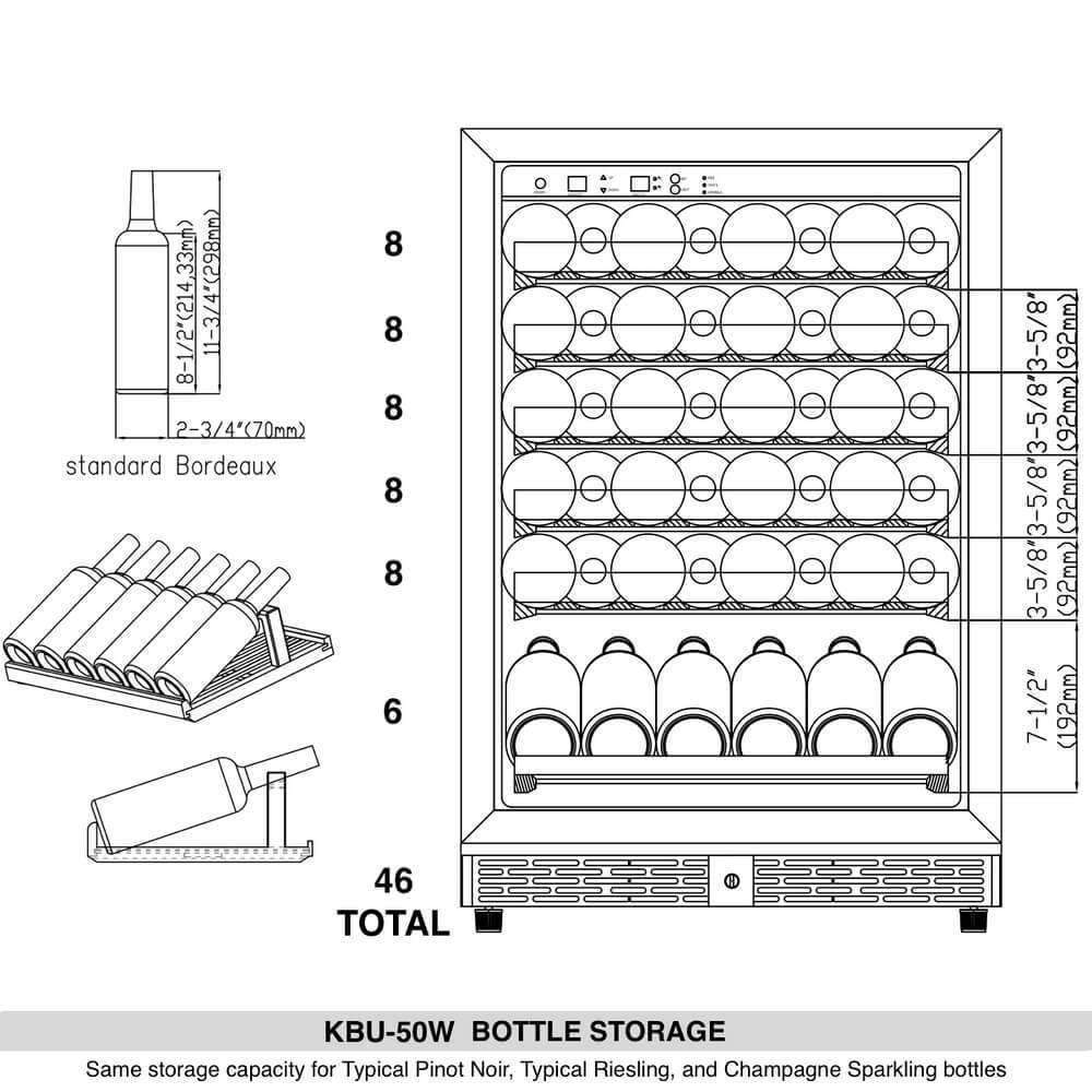 KBU50W BOTTLE STORAGE
