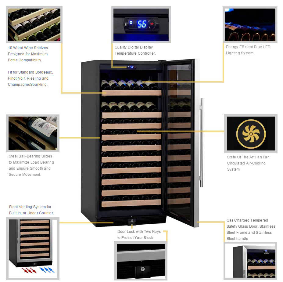 KBU-100W Wine Cooler Detailed Features