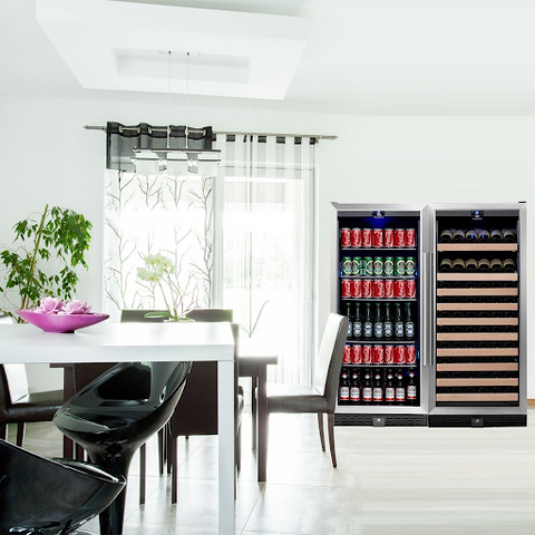 Dual Zone Beer and Wine Fridge