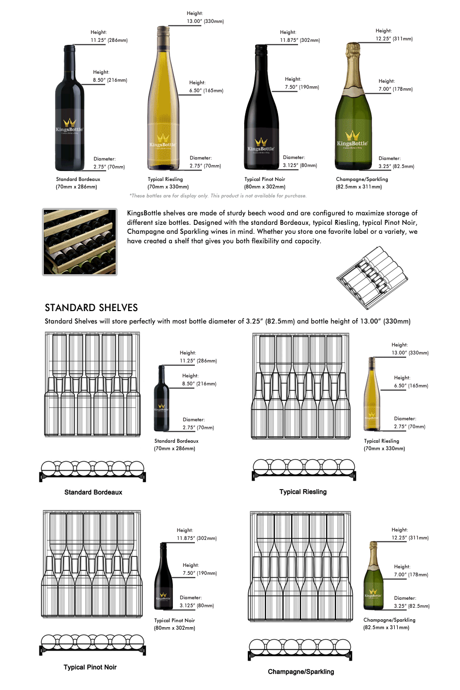 Wine Bottle storage | KBU170D