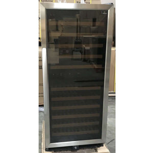 REFURBISHED 100 bottle dual zone wine cooler with glass door