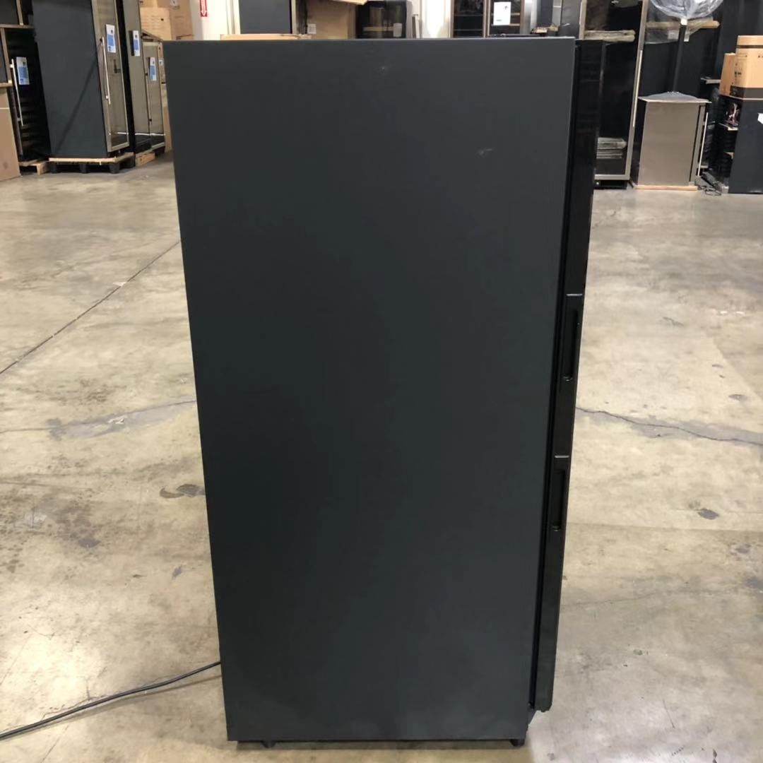 REFURBISHED 100 bottle dual zone upright used wine cooler | Black