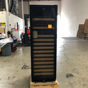 Refurbished Large Wine Cooler Fridge Glass Door -Black