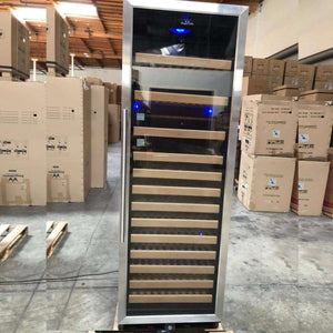 REFURBISHED Large Wine Cooler Fridge With Glass Door & Display Shelves