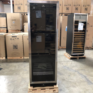 Refurbished- Upright Beverage Cooler Beer Fridge with Glass Door