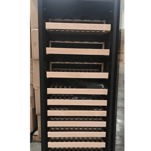 REFURBISHED Upright Wine Cooler Fridge With Glass Door & Display Shelves