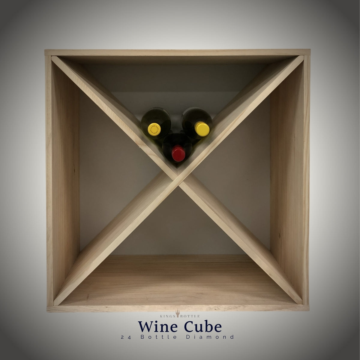 24 Bottle Compact Wine Cube