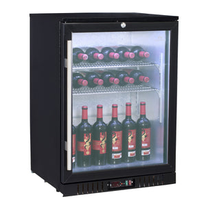 24 inch glass door back bar beer fridge KBU55BP