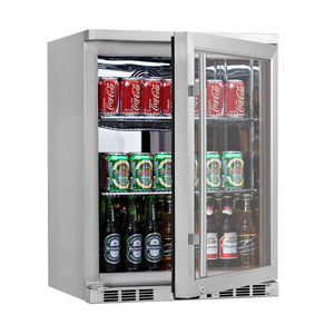24 inch heating glass door under counter beer cooler KBU55M