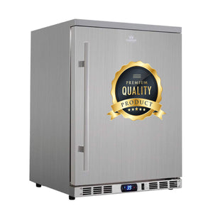24 inch solid door under counter outdoor beer fridge KBU55ASD