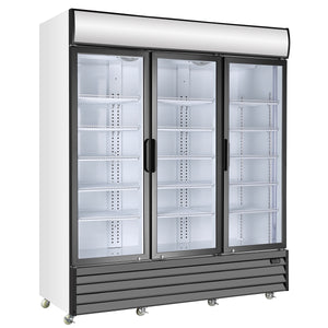 3-Door Display Beverage Cooler Commercial Refrigerator