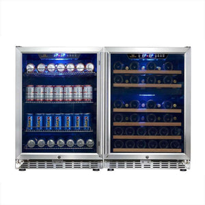 3-Zone Beverage and Wine Cooler COMBO | Kingsbottle KBUSF54COMBO