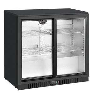 36 inch sliding glass 2 door back bar beverage refrigerator KBU208SC-BP