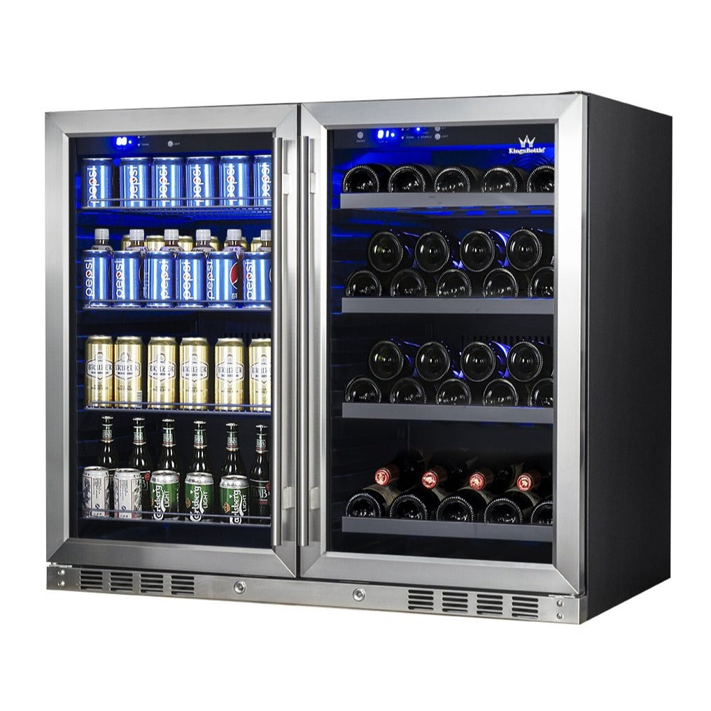 39 inch under counter wine and beer fridge combo KBU28LRX