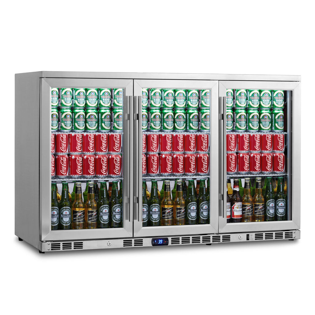 53 inch heating glass 3 door large beverage refrigerator KBU328M