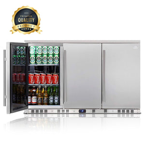 53 inch solid 3 door outdoor beverage drinks cooler KBU328ASD
