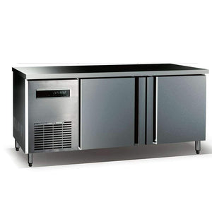 "59"" Stainless Steel 2 Door Back Bar Cooler KBU380SD"