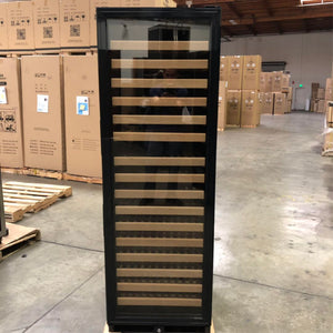 Refurbished - Large Wine Cooler Fridge With Black Glass Door