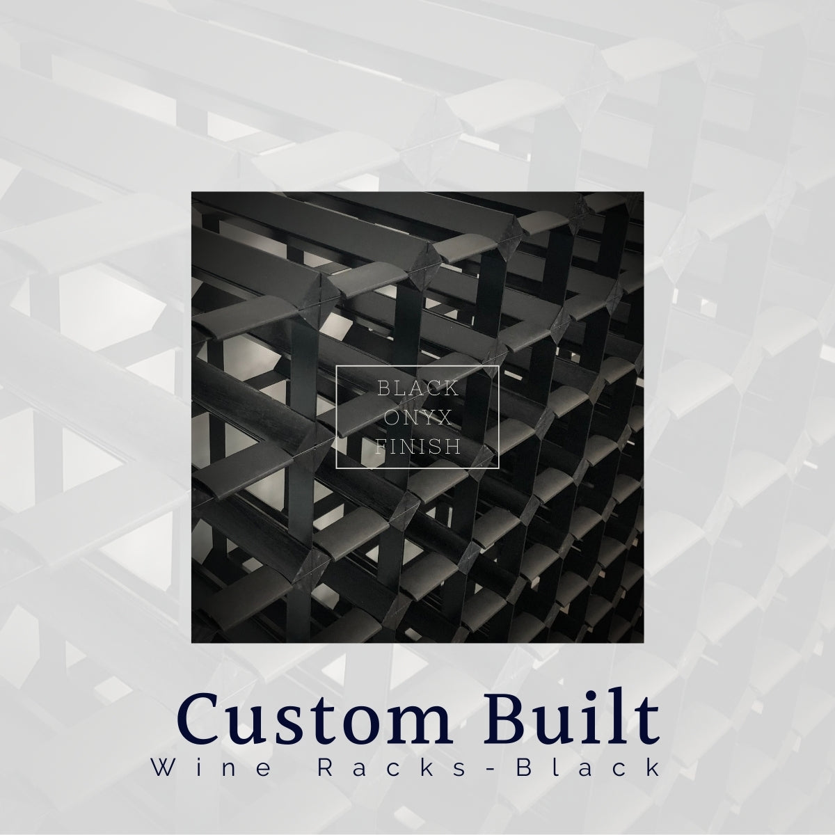 Custom Built Wine Rack | Black Onyx Finish