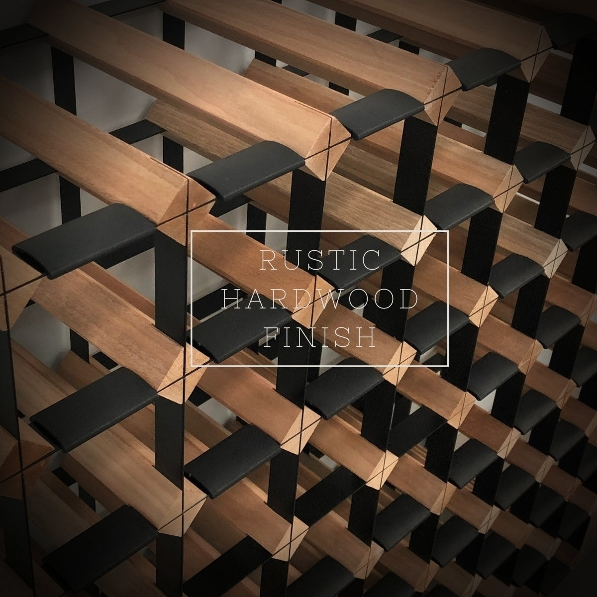 20 Bottle Timber Wine Rack | 4x4 Configuration
