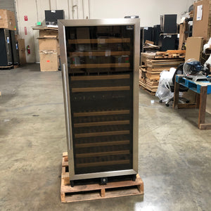 Refurbished 100 bottle dual zone upright used wine cooler