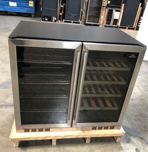 "SOLD KU11389 | 39"" Beer and Wine Cooler Combo 