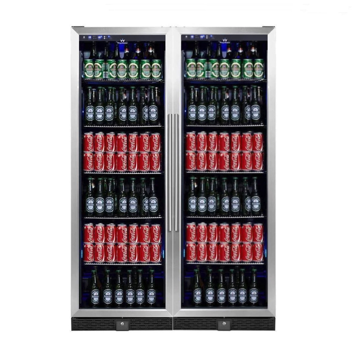 Large Upright Beverage Refrigerators with Glass Door