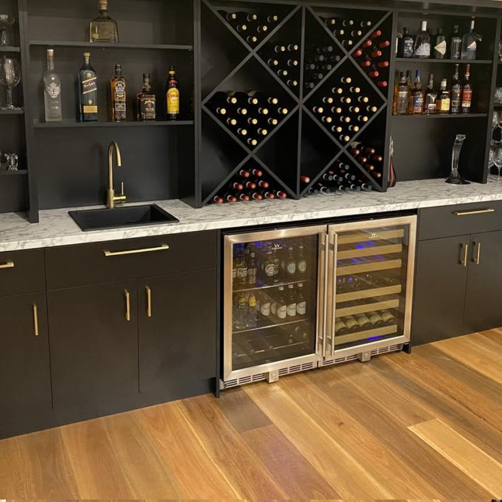 48 Inch Glass Door Wine And Beverage Fridge Center Built In