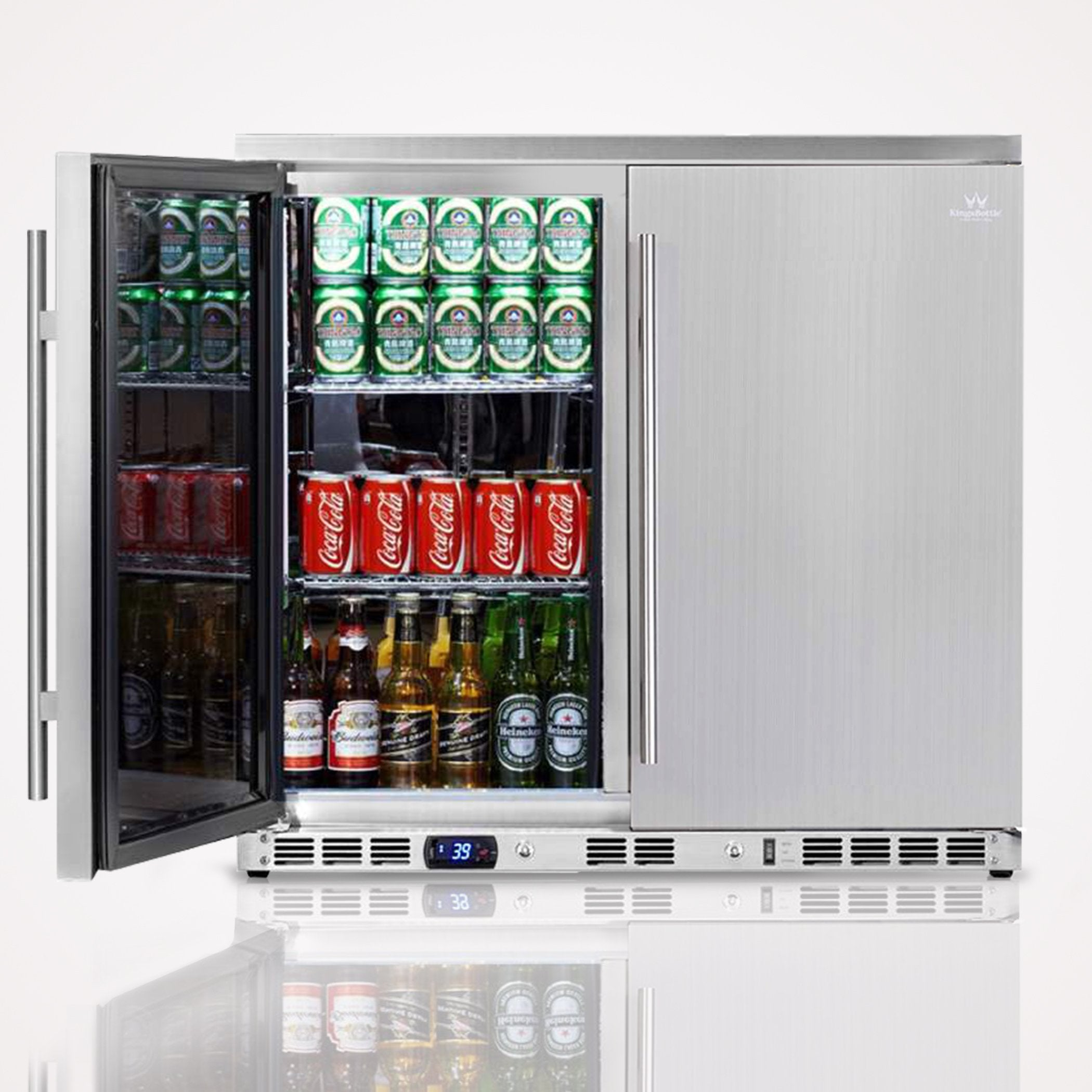 36 Inch Outdoor Beverage Refrigerator 2 Door For Home