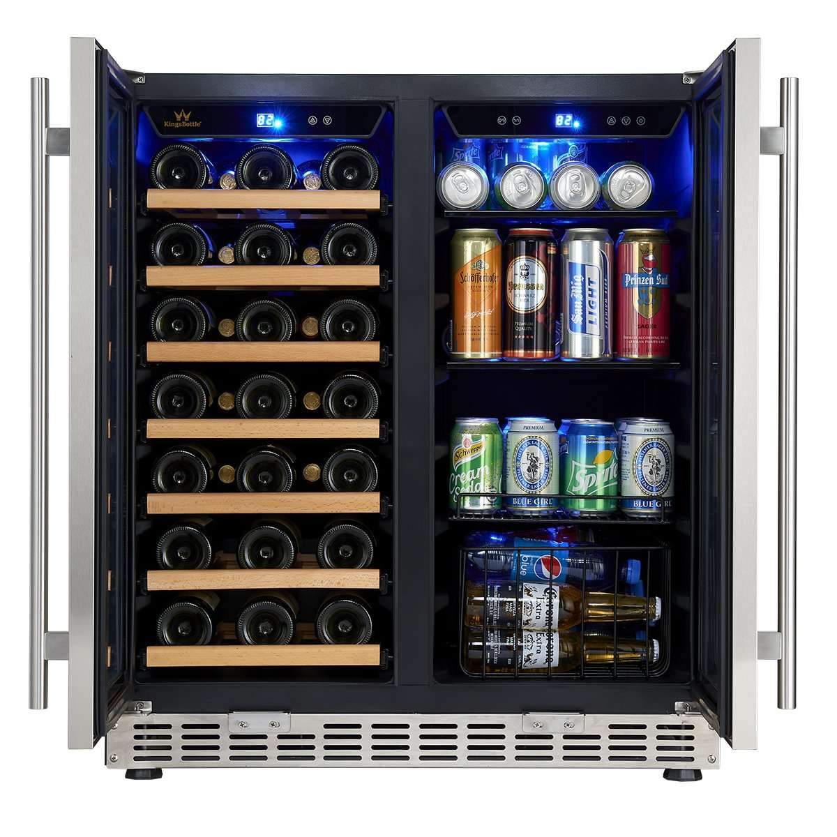 30 inch Beer Cooler and Wine Refrigerator combo