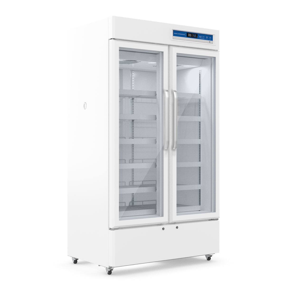 725L Upright 2-Door Medical Fridge & Lab Refrigerator